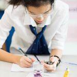 曼谷哈罗国际学校的学生认真记录实验结果