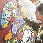查德威克国际学校的学生进行美术创作