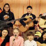 庆南国际外国学校的学生乐队