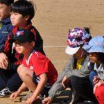 光州外国学校的学生坐在赛场边看比赛