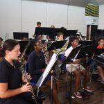 拉各斯美国国际学校的乐队练习