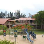 莫桑比克美国国际学校的教学楼和游乐场