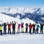 布里兰特蒙特国际学校的学生准备滑雪