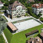 布里兰特蒙特国际学校的高空鸟瞰图