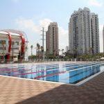 加拿大国际学校的室外游泳池