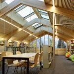 人文学院图书馆二楼的读书和学习空间
