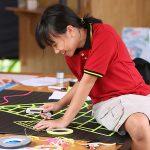 胡志明市德国国际学校的学生画图