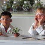 伯尔尼国际学校的学生做实验