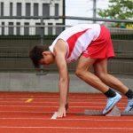 伯尔尼国际学校的学生准备开始跑步比赛