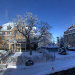罗森堡学院的冬季雪景