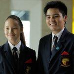 英华国际学校的学生自信微笑