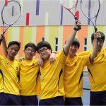 英华国际学校的网球运动队