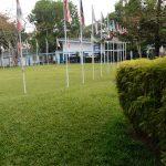 阿比让国际社区学校的旗帜区