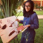 达喀尔国际学校的学生画画