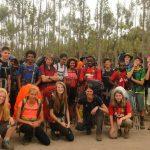 莫希国际学校的学生们参加徒步露营