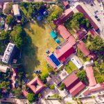坦噶尼喀国际学校的校园鸟瞰图