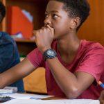 卢旺达基加利国际学校的学生认真听课