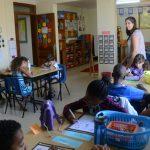 卢旺达基加利国际学校的学生在课堂上