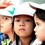 胡志明市德国国际学校的学生们排队
