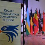 基加利国际社区学校的旗帜